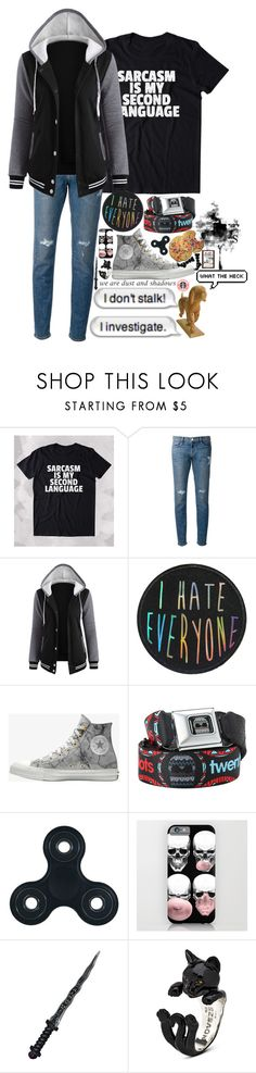 """Untitled #173"" by wibbly-wobbly-timey-wimey-dork on Polyvore featuring AG Adriano Goldschmied, Frame, Converse, Hot Topic, Forever 21, Made By Riley, Once Upon a Time, Cufflinks, Inc., ootd and outfitoftheday"