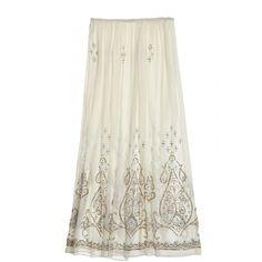 Niut Embellished Silk Maxi Skirt