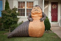 Jabba the Hutt inflatable lawn ornament for Star Wars fans. Probably the best thing ever, as far as inflatable lawn ornaments go.