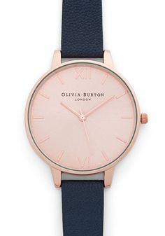 Undisputed Class Watch in Rose Gold/Navy - Grande by Olivia Burton - Luxe, Gold, Leather, Blue, Minimal, Variation, Gals, Travel