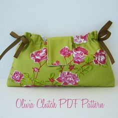 clutch pattern --- cute, but it's $5.