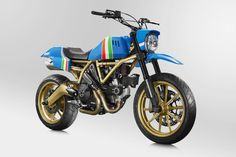 Ducati Scrambler Maverick project Ducati North America has launched a project to commission maverick artists to paint and customise their most-popular model yet, the Scrambler. The first Scrambler Maverick (pictured above) has been completed by American tattoo artist Grime.