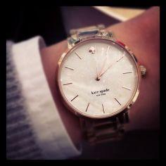Kate Spade watch. #katespade #watch #rosegold