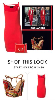 """""""DSQUARED2 wedges"""" by bodangela ❤ liked on Polyvore featuring Dsquared2"""