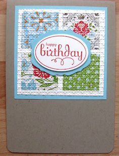 Stampin Up Demonstrator UK: Stampin' Up! Inlaid Embossing Technique