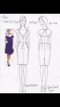 Design Sketches and Photo of first sample for Joan & David Collection-Japan Resort 2013 (Renaldo Barnette)