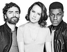Oscar Isaac, Daisy Ridley & John Bojega