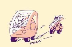 Pixels and Pens Hee-hee.  Underswap version of the car thing.  Hehehe.