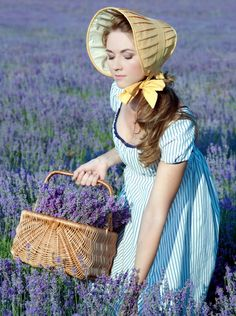 lavender field - harvesting.  I have done this.  It is so much fun!!!