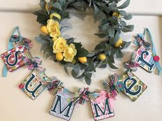 Your place to buy and sell all things handmade Summer Banner, Summer Swag, Spirit Of Summer, Summer Party Decorations, Summer Signs, Summer Photos, Summer Parties, Photo Props, Garland