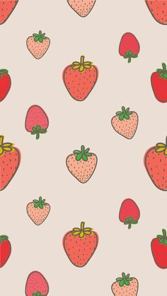 Adorable Strawberry iPhone Wallpaper