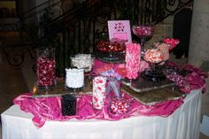 Pink, White, Black, Candy, Buffet