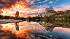 Cathedral lake, Yosemite National park, California, USA