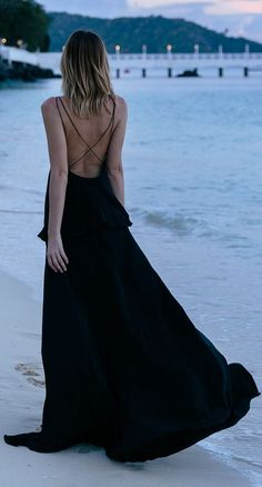 Black Maxi Dress by Tuula.
