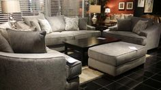 Plenty of seating room and an elegant cream upholstery in this set will transform your living room into a sanctuary for your whole family to enjoy! | Houston TX | Gallery Furniture |