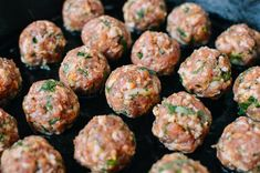 This AMAZING step-by-step meatball Banh Mi recipe with pickled carrot and daikon, Sriracha mayo, cilantro, and jalapeno will surprise your taste buds today! Cheese Stuffed Meatloaf, Cheese Stuffed Meatballs, Spicy Meatballs, Parmesan Meatballs, Crock Pot Meatballs, Chicken Meatballs, Cooking Meatballs, Meatball Recipes, Beef Recipes