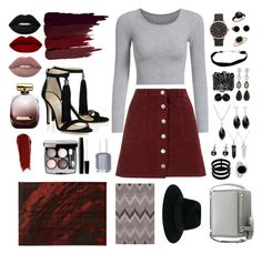 Vinous black grey by lama-banana on Polyvore featuring polyvore, fashion, style, Miss Selfridge, Givenchy, Repossi, Pomellato, Oscar de la Renta, Blue Nile, Marc Jacobs, Bling Jewelry, Maison Michel, Serge Lutens, NARS Cosmetics, Lime Crime, Essie, Chanel, Nina Ricci and clothing
