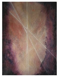 Purple Book of Life- Mixed Media- 22x30- Large Acrylic Abstract on Paper- Hidden C Names, Light Rays, Spiritual- Cream, Pink
