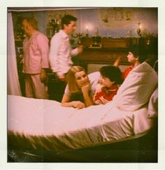 Fascinating Behind-the-Scenes Polaroids of Actors on Set  by Nicole Rallis.   The Royal Tenenbaums.  Gene Hackman, Wes Anderson, Gwyneth Paltrow, Grant Rosenmeyer, Jonah Meyerson.