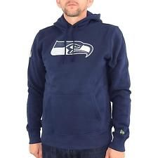 New Era Team Seattle Seahawks Hoodie Herren Kapuzenpullover, dunkelblau,  30626