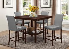 Coaster Fattori Square Counter Height Dining Table Collection - 105308