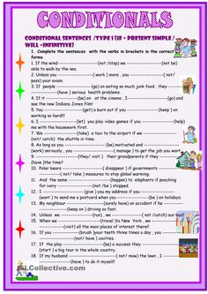 Conditionals  1- 2 -3 practice on 3 pages. 50 thousandth free ESL worksheet uploaded to iSLCollective.com by sylviepieddaignel. Also, worksheet of the day on March 15, 2015.