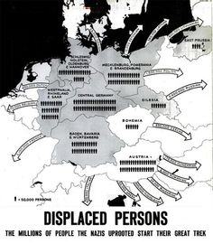 "As seen in the May 1945 edition of Life Magazine, this map shows foreign displaced persons in Germany, who they are, where they were when liberated by Allied forces and where they wanted to return to. (I remember Mom saying of friends, ""They were D. Ap World History, World War Ii, Interesting History, Berlin, Life Magazine, Geography, Wwii, The Past, Germany"