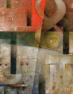 """Galleria scorrevole.                                          Sergio Cerchi, italian painter (Firenze), """"Infinite"""", oil on canvas."""