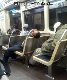 Sleeping in public...