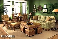 Islander Capris Rattan Living Room Set | Beachcraft Furniture Living Room Series 3549
