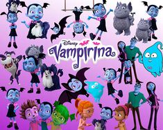 26 Vampirina ClipArt Digital PNG Image Picture Drawing Illustration Art  Birthday Party Handicraft Scrapbooking Printable Clipart Transfer