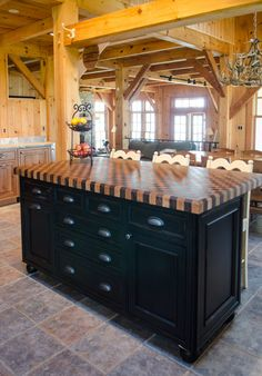 This Craft-Art wood countertop is located at Scandia Kitchens in ...