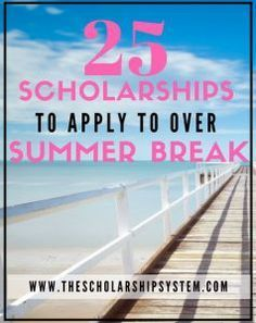25 Scholarships to Apply to By the End of Summer http://www.thescholarshipsystem.com/blog-for-students-families/25-scholarships-apply-end-summer/?utm_campaign=coschedule&utm_source=pinterest&utm_medium=The%20Scholarship%20System&utm_content=25%20Scholarships%20to%20Apply%20to%20By%20the%20End%20of%20Summer