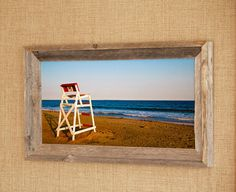 Chair 9 Barnwood Framed Photograph Nautical by PhotographsbyJoules