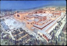 artist's rendering of the palace reconstructed