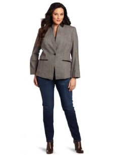 Jones New York Women's Plus-Size Donegal Jacket