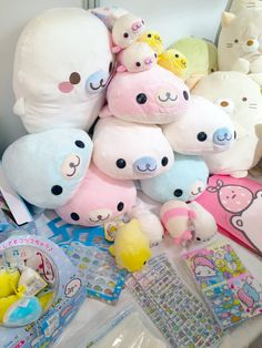 Find images and videos about kawaii and plush on We Heart It - the app to get lost in what you love. Kawaii Plush, Cute Plush, Kawaii Cute, Cute Bear, Origami, Cute Stuffed Animals, Kawaii Shop, Cute Japanese, Softies