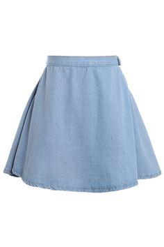 Denim never go wrong #ROMWE #denim #skirt