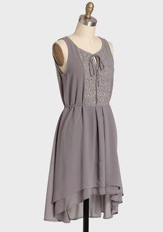 Gray Gardenia Chiffon Dress | Modern Vintage Dresses