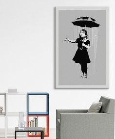 Look what I found on #zulily! Nola Girl with Umbrella Gallery-Wrapped Canvas by Banksy #zulilyfinds