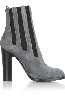 Alaïa Suede ankle boots   THE OUTNET
