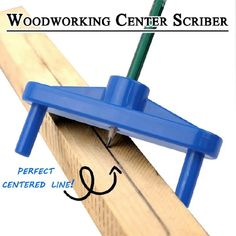 Woodworking Center Scriber has notches for offset marking let you scribe off-center lines or lines near the edge of large panels. 1 x Woodworking Center Scriber. Centre hole holds a pencil in a perfectly centered position as you scribe your line. Woodshop Tools, Garage Tools, Diy Wanddekorationen, Woodworking Enthusiasts, Wooden Pencils, Cool Inventions, Wood Working For Beginners, Home Repair, Diy Tools