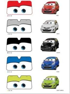 Hot Sale New Big Eyes Pixar Cars Lightning Front Car Windshield Sun Shade 5 Colors
