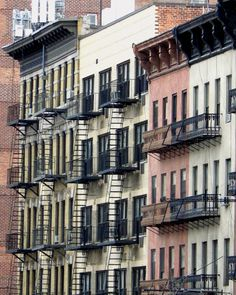 Apartment houses on the Upper East Side, Manhattan.