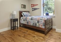 Prefinished Engineered Maple Character - Hand Scraped Face and Edge - Antique Mahogany Stain Wide Plank Flooring, Hardwood, Distressed Hardwood Floors, Plank Flooring, Mahogany Stain, Flooring Trends, Home Decor, Flooring Options Durable, Distressed Hardwood