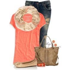 Spring Coral, created by lagu on Polyvore