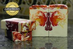 Butterfly Flambe soap by Claudia Carpenter Soap Making Recipes, Bath Recipes, Soap Recipes, Soap Melt And Pour, Savon Soap, Soap Tutorial, Goat Milk Soap, Cold Process Soap, Home Made Soap