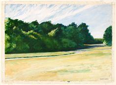 Edward Hopper (1882-1967) - Mass of Trees at Eastham - 1962 - Watercolor and graphite pencil on paper - Whitney Museum of American Art