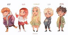 """🌱Diminutos🌱 first character design test of the main family of Diminutos in the book series😌✨ who's your favorite? Hop, Ula, Tomillo, Clip or Mota? each of them was born in a different season! can you guess which? Oc Drawings, Disney Drawings, Cute Drawings, Kid Character, Character Concept, Character Design, Anime Chibi, Pretty Art, Cute Art"