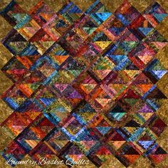 Laundry Basket Quilt of the Day - Tropical Turnover